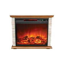 Lifesmart FP1136 Large Room Infrared Quartz Fireplace Zone Heater, Faux Stone