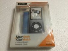 Griffin 2pk iClear cases for iPod nano 4th Generation (2008 model no camera)