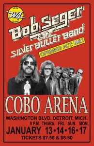 BOB SEGER REPLICA 1977 CONCERT POSTER