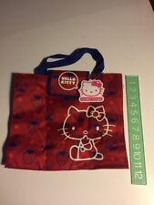 Sanrio Original Classic 2009 Hello Kitty Book Tote Bag Strawberry School