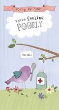 Get Well Card - Sorry To Hear You're Feeling Poorly - Wishing Well (C43) NEW
