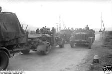 German Army Convoy Vehicles & Troops Italy World War 2 Reprint Photo 6x4 Inch