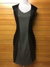💋 Diana Ferrari L Stretch Grey Black Dress Fully Lined