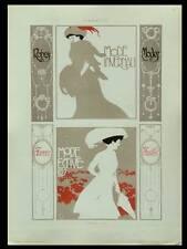 FEMMES ART NOUVEAU, ALEARDO TERZI -1910- LITHOGRAPHIE, MODE