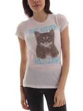 Local Celebrity T-Shirt This Kitten weiß Rundhals kurzarm Print Katze
