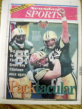 1997 newspaper GREEN BAY PACKERS win SUPER BOWL XXXI over NEW ENGLAND PATRIOTS
