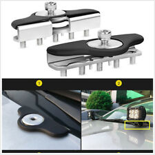 Brand New 2pcs Stainless Steel Hood Led Work Light bar Mount Bracket Universal