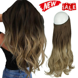 Transparent Secret Line Headband Hairpiece Invisible Wire Curly Hair Extensions