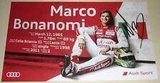 Le Mans 2015-du Mans-FIA WEC-Audi R18 #9 - Marco Bonanomi signé Carte