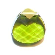 SCP174 OLIVINE Green Flat Briolette 11mm Swarovski Crystal Pendant Bead 1/pkg