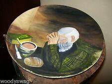 Steubenville Pottery USA Plate Praying Man artist Julia Doscher 1988