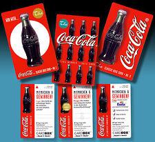 Coca Cola | 3 vintage CARDBOX publicitaires cartes 1997 RARE publicitaire occurrences dans Comme neuf
