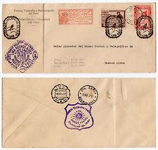 1937 PERU' POSTA AEREA 2 VALORI SU BUSTA 1° VOLO LIMA-BUENOS AYRES B/6300