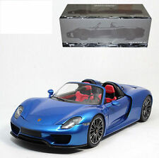 MINICHAMPS 2013 Porsche 918 Spyder Blue/Red Interior 1:18*Last One!!