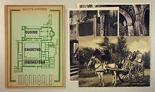Spinnato DUOMO CHIOSTRO MONASTERO MONREALE 1948 3 Cartoline Carro Siciliano