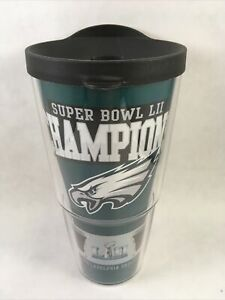 """Philadelphia Eagles Super Bowl LII Champions Insulated Hot Cold Drink Cup 8"""""""