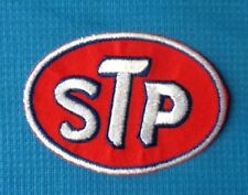 STP OIL LUBRICANT MOTOR RACING TEAM SOW SEW IRON ON EMBROIDERED PATCH BADGE