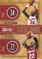 2009-10 Classics Classic Combos Gold #8 Hakeem Olajuwon Clyde Drexler #/100