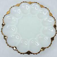 Milk Glass egg platter plate dish Vintage