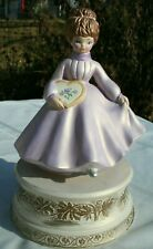 New ListingYoung Lady Figurine Music Box Vintage Narco Japan