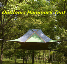 Outdoors Hang Tree House Tent Quadrangle Suspension Double Layer Hammock Camping