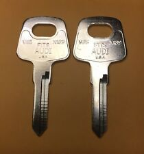 2 New Keys For Many Audi / Porsche / Volkswagen Vehicles Uncut Blade V35 / X139