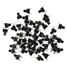 50 Pcs Black Plastic Electronic Component Momentary Contact Micro Switch AD