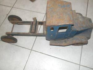 """Vintage Mack? Truck Pressed Steel Toy 20"""" long 8""""wide"""