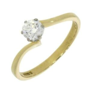 Pre Owned Ladies 18ct Yellow Gold 0.40ct Diamond Solitaire Ring RB23