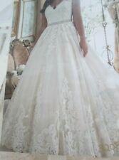"Mori Lee Wedding Dress #3208-  Ivory/Lt. Gold - Size 18 - 58"" length"