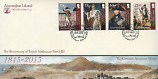 Ascension Isl 2014 FDC British Settlement Pt II 4v Cover Napoleon Nelson Stamps