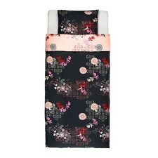 New Ikea SILKESLEN Duvet cover and pillowcase(s), unicorn black, pink, Twin