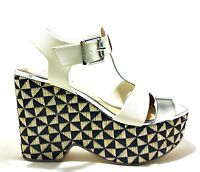 GAUDI MELLY V73 65370 scarpe sandali donna zeppa alta casual pelle tessuto tacco
