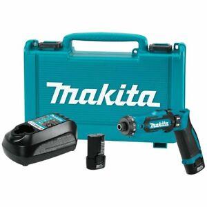 Makita DF012DSE 7.2-Volt 1/4-Inch Auto-Stop Clutch Cordless Hex Driver-Drill Kit