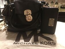 Michael Kors brown leather handbag with wallet