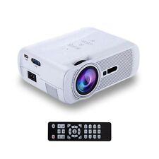 iRULU Mini LED Projektor Beamer Full HD 1080p Smart Home Heimkino Projector Weiß