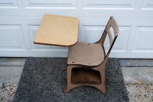Vintage Small Child Student Metal Elementary School Desk Chair Mid Century MCM