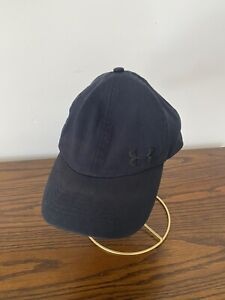 Under Armour Women's Black Strap Back Adjustable Workout Running Hat OSFA