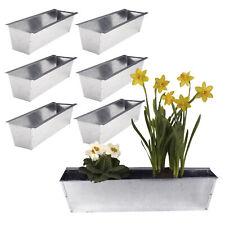 6x Blumenkasten für Europalette Balkonkasten Einsatz Pflanzkasten Zink 38cm