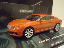 minichamps  1/43  bentley continental  gt 2011 orange metalic