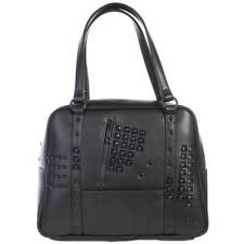 Sourpuss Idoless Studded Bowler Handbag Punk Gothic Rockabilly Retro Purse Bag