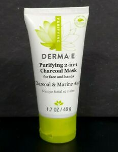 Derma E Purifying 2-in-1 Charcoal Mask for face and hands exp 12/2022 NWOB (m2