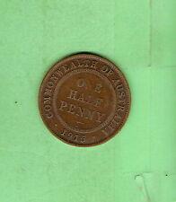 SCARCE AUSTRALIAN 1915 HALFPENNY  COIN