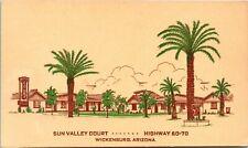 Postcard AR Wickenburg Sun Valley Court - Highways 60 & 70 1950s A19