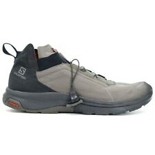 Salomon Mens Gray T-Muter Outdoor WP Low Hiking Shoes Size US 10.5 EU 44.66