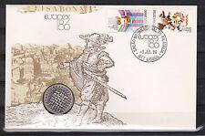 "dekorativer Numisbrief Portugal "" Lisboa Europex 86 """