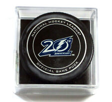 2012 Tampa Bay Lightning 20th Anniversary NHL Official Game Puck New in Cube