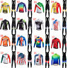 Miloto Men's Long Sleeve Cycling Jersey Padded Bib Pants Tights Bike Clothes Set