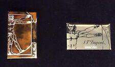 ST DUPONT VITRUVIAN MAN PRESTIGE LIMITED EDITION GOLD LIGHTER LINE 2 LINGE LACQU