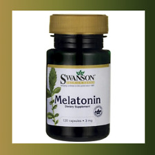 Swanson Melaton Melatoni 3mg 120/240/360 caps. Schlaflosigkeit Schlafproblem